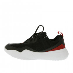 BLACK AND RED SNEAKERS