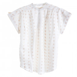 BLOUSE WHIT HEARTS