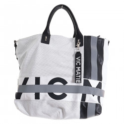 BLACK AND WHITE SHOPPING BAG