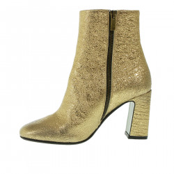 GOLD ANKLE BOOT