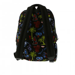BLACK BACKPACK WITH DESIGNS