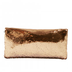 BRONZE PAILLETTES CLUCTH BAG