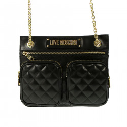 BLACK AND GOLD SHOULDER BAG