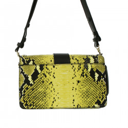 YELLOW SNAKE CLUTCH BAG