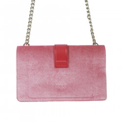 PINK VELVET AND PEARLS BAG