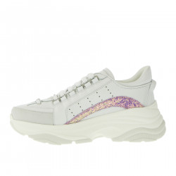 WHITE SNEAKERS HIGH SOLE