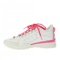 WHITE AND PINK FLUO SNEAKERS