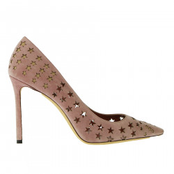 SUEDE DECOLLETE WITH STARS