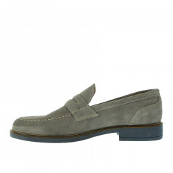 GRAY SUEDE LOAFER