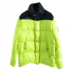GREEN AND BLUE PADDED JACKET