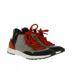 RED AND GRAY SNEAKERS