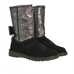 SUEDE AND GLITTER BOOTS