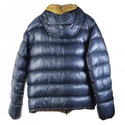 BLUE AND GREEN PADDED JACKET