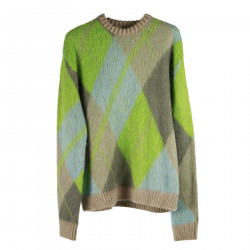 GREEN AND GREY SWEATER