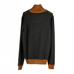 BROWN AND BLUE SWEATER
