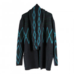 BLUE AND GREEN CARDIGAN