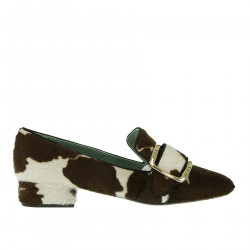 WHITE AND BROWN LOAFER