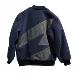 BLUE AND GRAY BOMBER