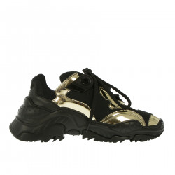 BLACK AND GOLD SNEAKER