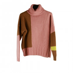 PINK AND BROWN SWEATER