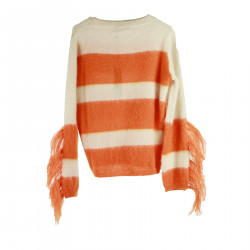 BEIGE AND ORANGE SWEATER