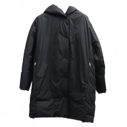 BLACK PADDED JACKET COAT