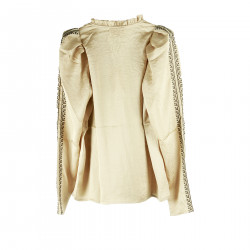 BEIGE AND BLACK BLOUSE