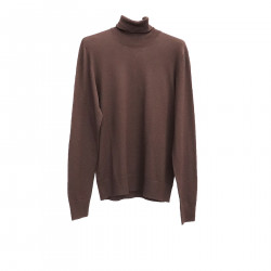 BROWN HIGHNECK SWEATER