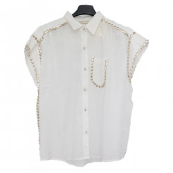 WHITE AND GOLD SHIRT