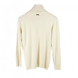 CREAM HIGHNECK SWEATER