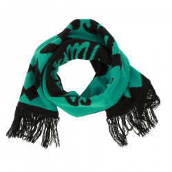 BLACK AND GREEN SCARF