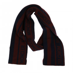 BLUE AND BORDEAUX SCARF