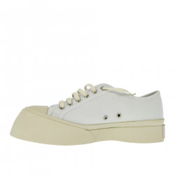 WHITE AND BEIGE SNEAKER