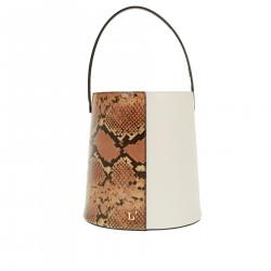 BUCKET BAG WITH PYTHON DESIGN