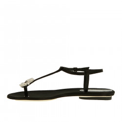 BLACK SANDAL WITH STRASS