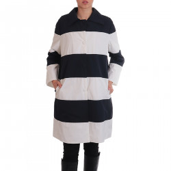 WHITE AND BLUE STRIPED COAT