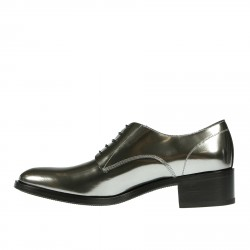SILVER LACE UP SHOE