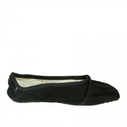BLACK CANVAS BALLET FLATS