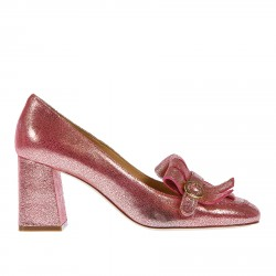 LADY PINK AND SILVER LOAFERS