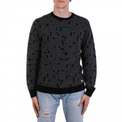 HIVE GREY AND BLACK SWEATER
