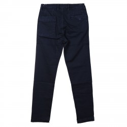 DARK BLUE COTTONED PANTS