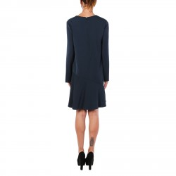 BLUE DRESS WITH LONG SLEEVES