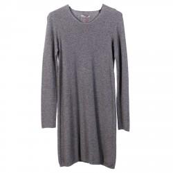 GREY MIXED WOOL DRESS