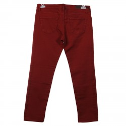 BRICK RED COTTONED PANTS