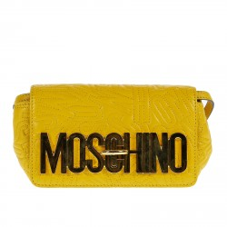 YELLOW POCHETTE WITH FRONT BRAND NAME