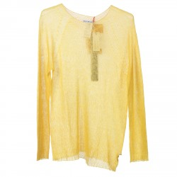 YELLOW PULLOVER WITH LUREX