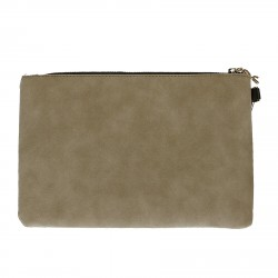GRAFIC BEIGE CLUTCH BAG
