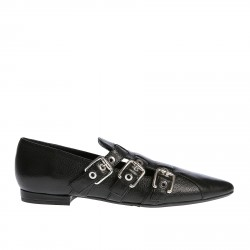 BLACK LOAFER WITH BUCKLES