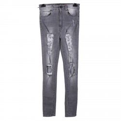 GREY JEANS WITH RIPPED PRINCESS MODEL
