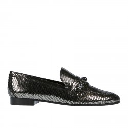SILVER LOAFERS WITH STONES